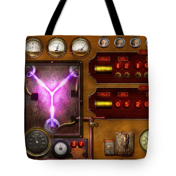 Steampunk - Temporal Flux Tote Bag by Mike Savad