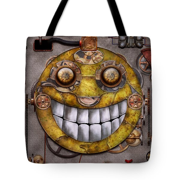 Steampunk - The Joy Of Technology Tote Bag by Mike Savad