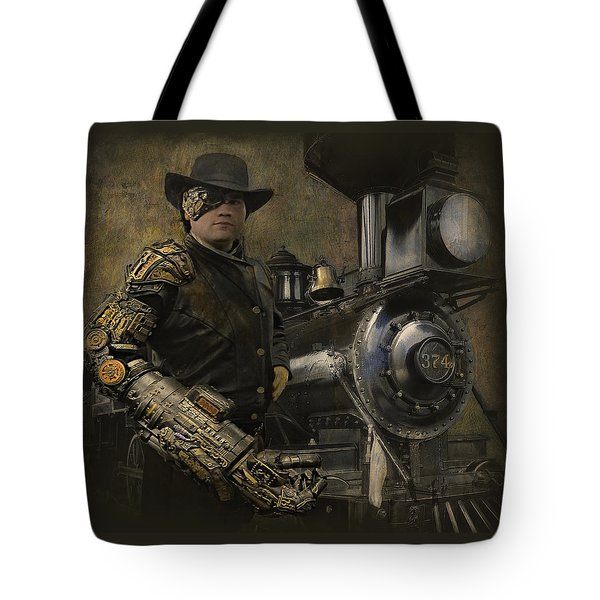 Steampunk - The Man 1 Tote Bag by Jeff Burgess
