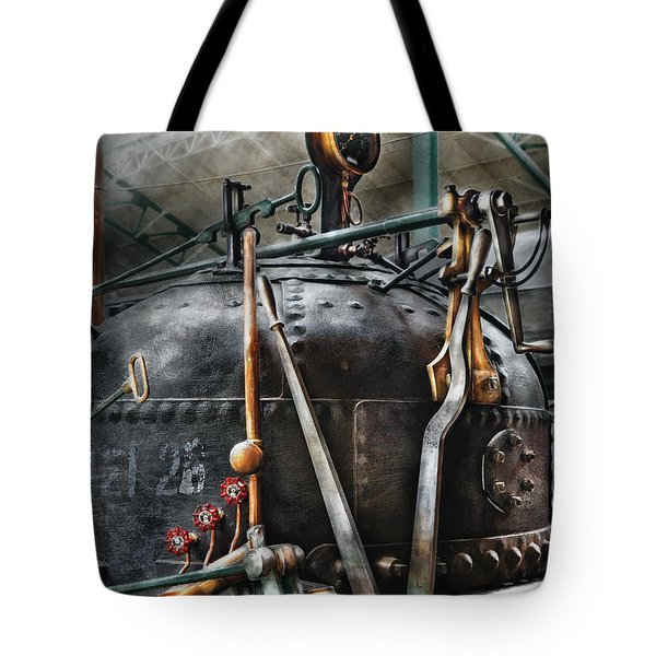 Steampunk - The Steam Engine Tote Bag by Mike Savad