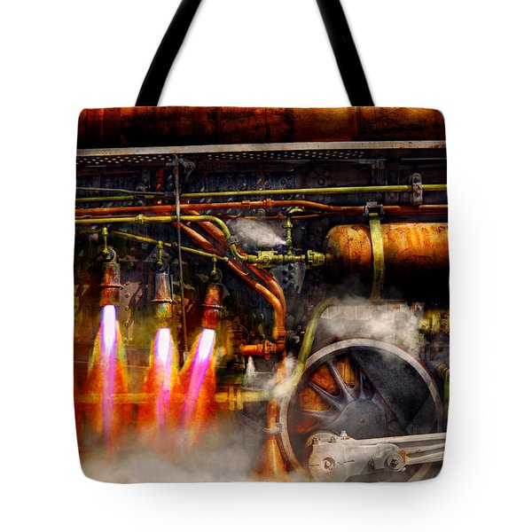 Steampunk - Train - The Super Express  Tote Bag by Mike Savad