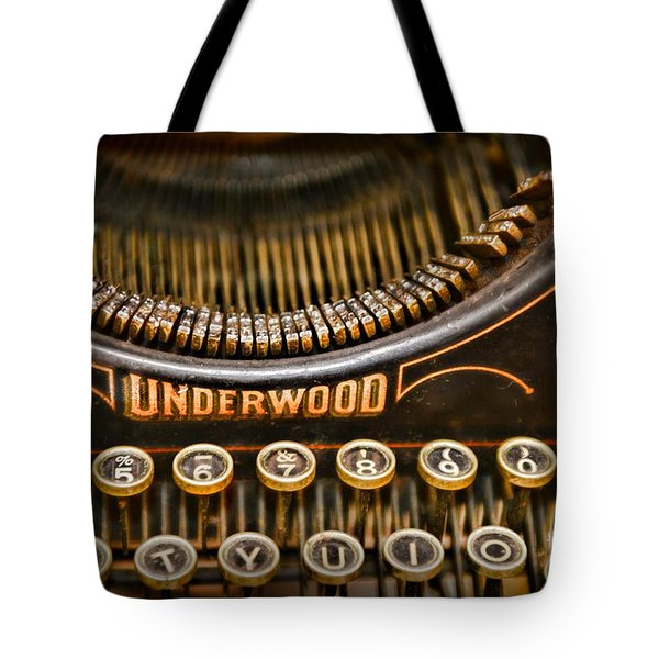 Steampunk - Typewriter - Underwood Tote Bag by Paul Ward
