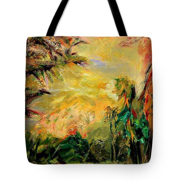 Steamy Cove Tote Bag