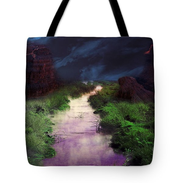 Steamy Creek Tote Bag