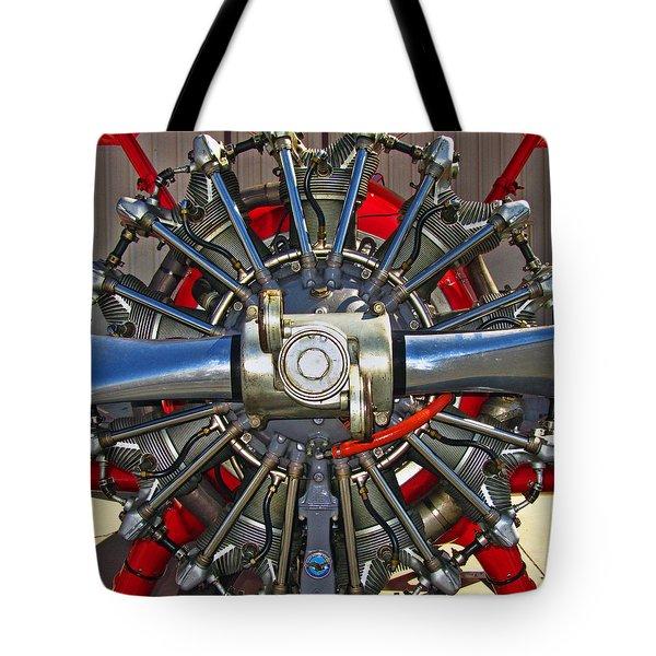 Stearman Engine Tote Bag by Dale Jackson