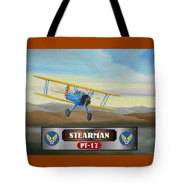Stearman Pt-17 Tote Bag