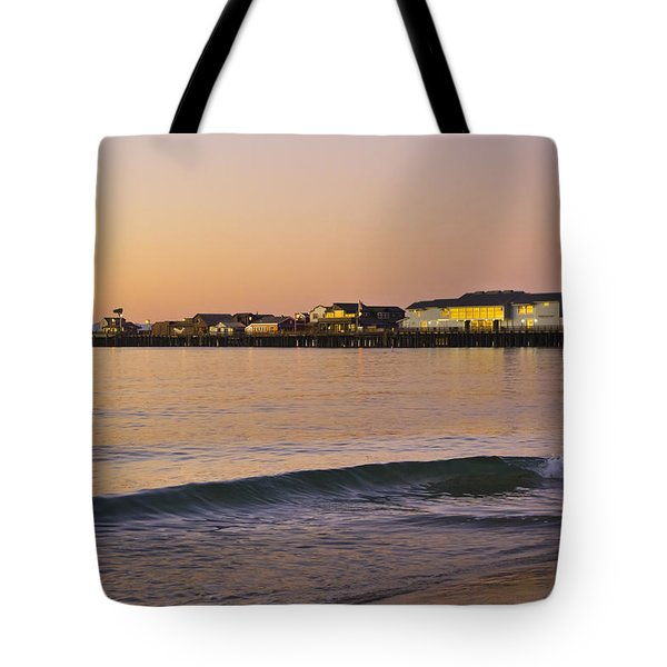 Stearns Wharf At Dawn Tote Bag