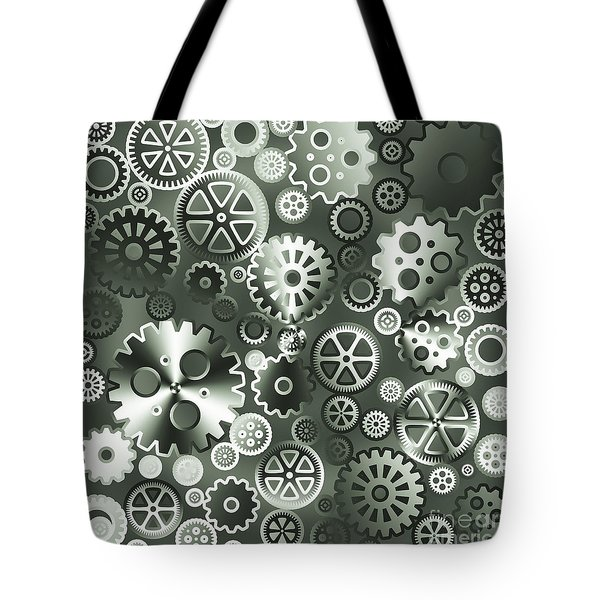 Steel Gears Tote Bag by Gaspar Avila