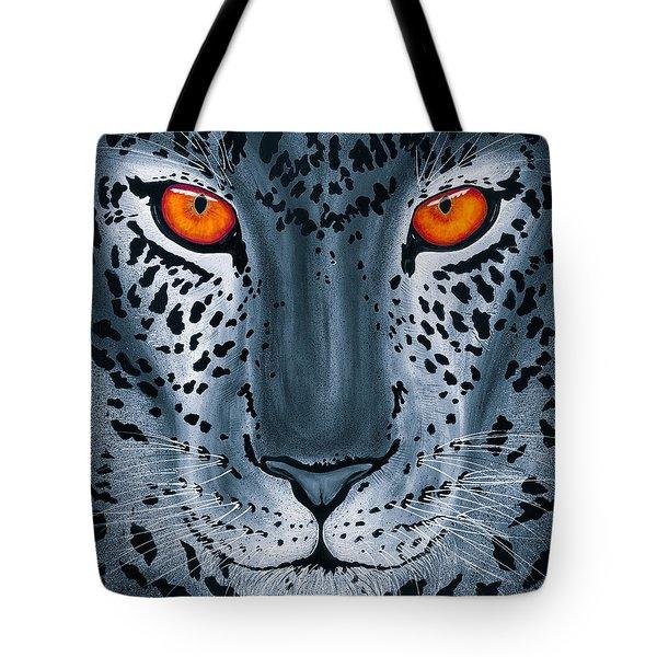 Steel Leopard Tote Bag
