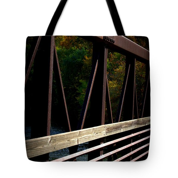 Tote Bag featuring the photograph Steel Lines by Cathy Shiflett