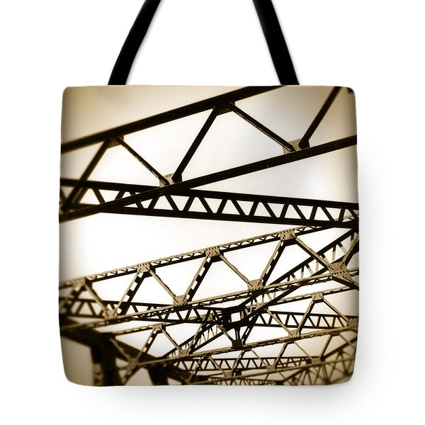 Steel Lines Tote Bag by Timothy Bischoff