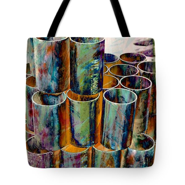 Steel Pipes Tote Bag