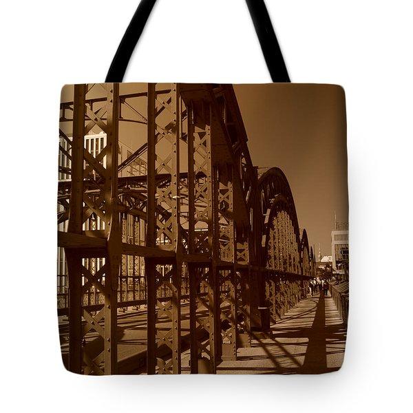 Steel Shadows Tote Bag