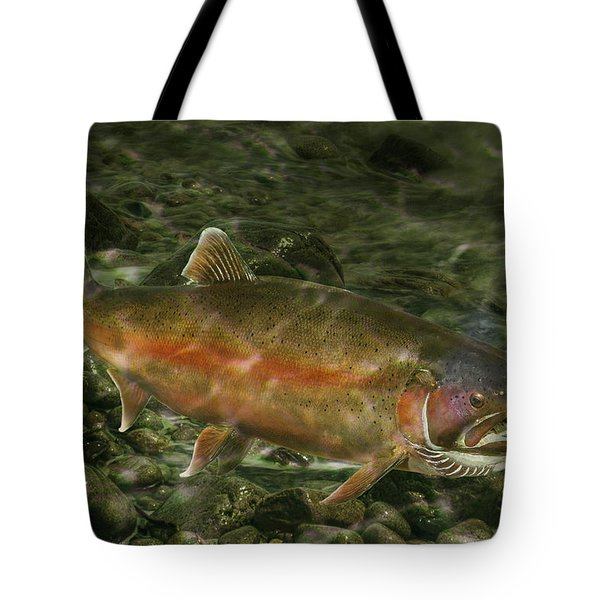 Steelhead Trout Spawning Tote Bag by Randall Nyhof