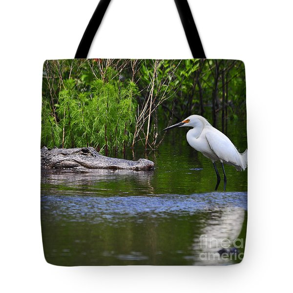Steely Snowy Tote Bag