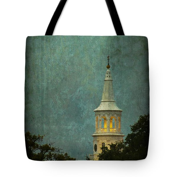 Steeple In A Storm Tote Bag