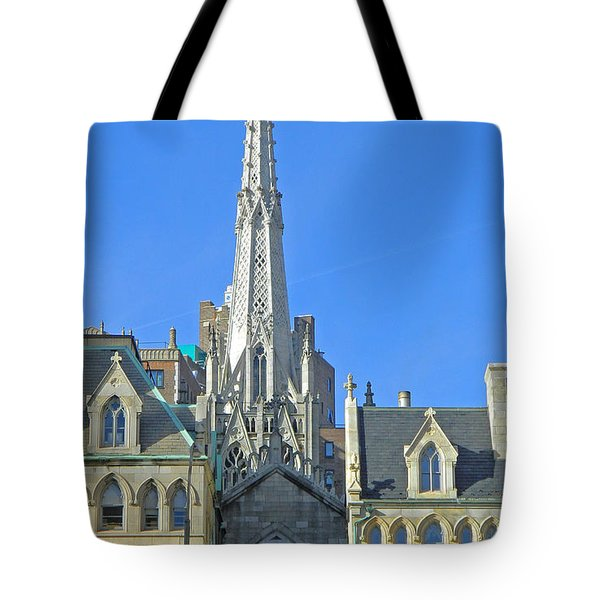 Steeple Of Grace Episcopal Church Nyc Tote Bag