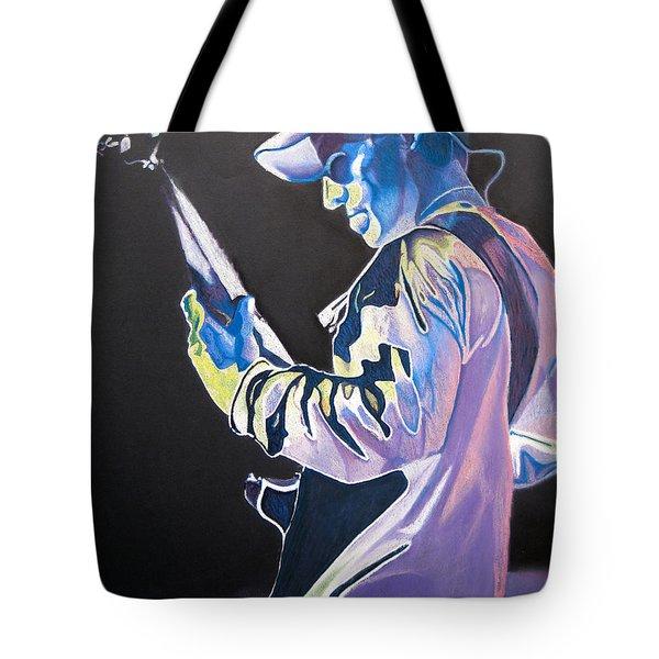 Stefan Lessard Colorful Full Band Series Tote Bag by Joshua Morton