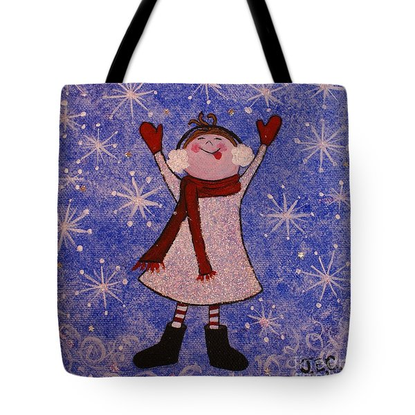 Stella And Snowflake Kisses Tote Bag