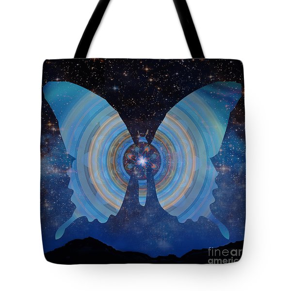 Stellar Butterfly Tote Bag