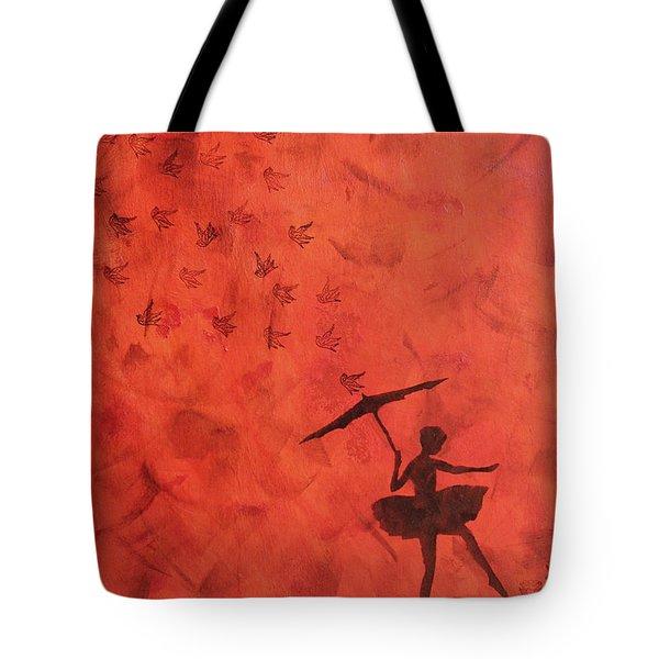 Stencil Ballerina Tote Bag