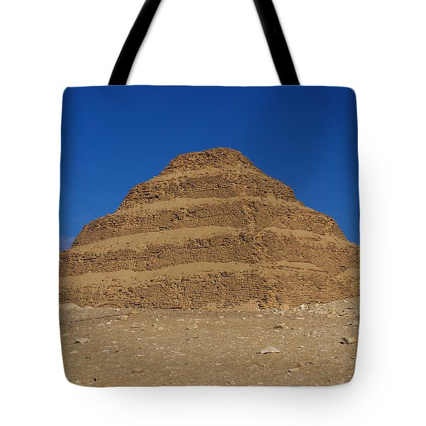 Step Pyramid Of King Djoser At Saqqara  Tote Bag