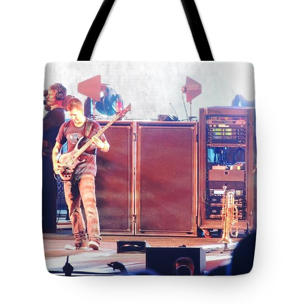 Tote Bag featuring the photograph Stephan The Bass Player by Aaron Martens