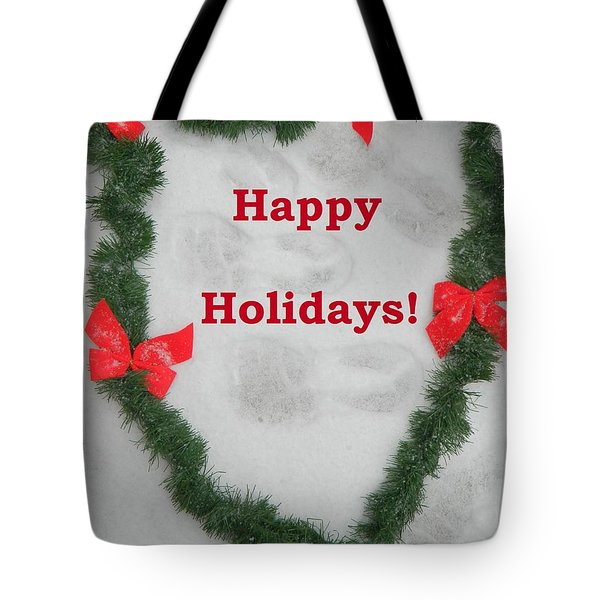 Tote Bag featuring the photograph Stepping Into The Holidays by Emmy Marie Vickers