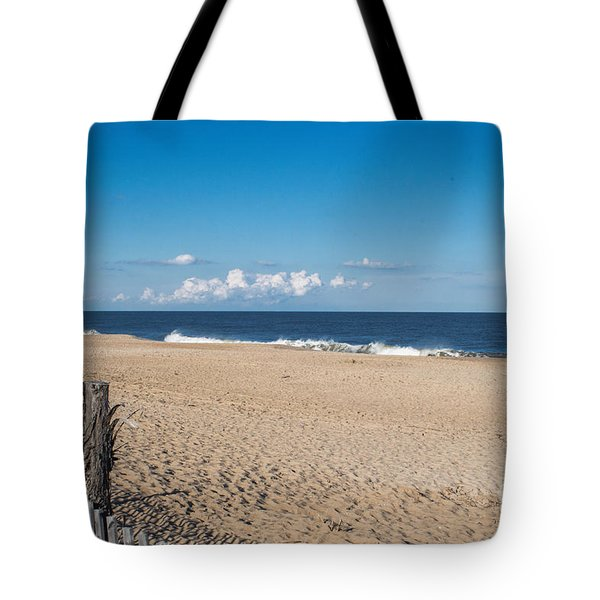 Stepping Onto The Beach Tote Bag