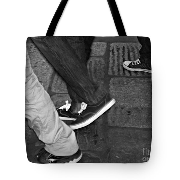 Tote Bag featuring the photograph Stepping Out by Clare Bevan