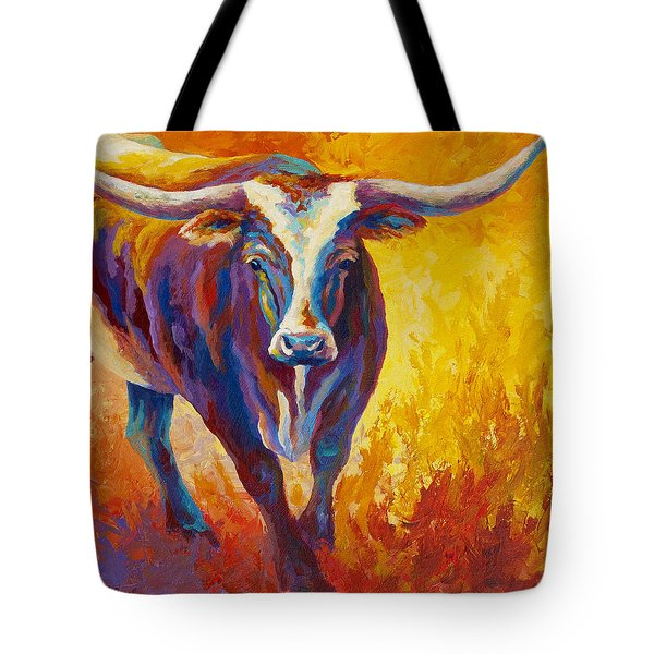 Stepping Out - Longhorn Tote Bag