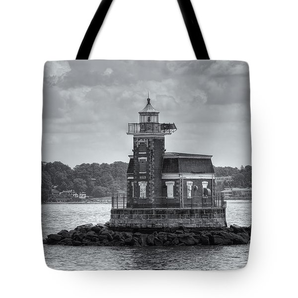 Stepping Stones Lighthouse II Tote Bag by Clarence Holmes