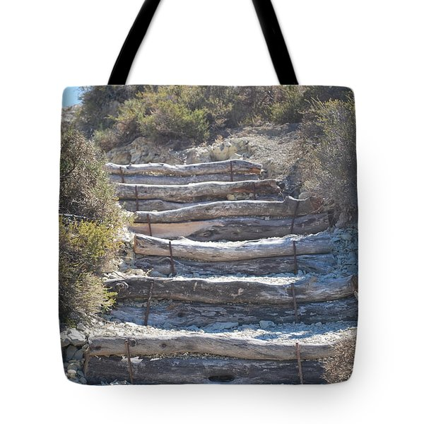 Steps In The Woods Tote Bag