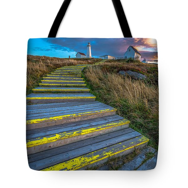 Steps To Cape Spear Tote Bag