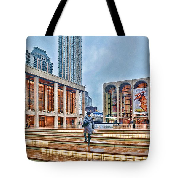 Steps To Fame Lincoln Center Tote Bag by Jeffrey Friedkin