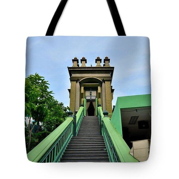 Steps To Muslim Mystic Shrine Singapore Tote Bag by Imran Ahmed