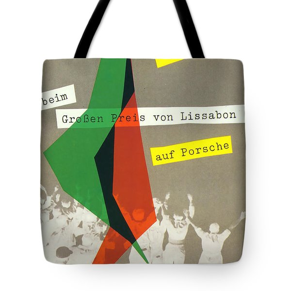 Sterling Moss Porsche Racing Poster Tote Bag by Georgia Fowler