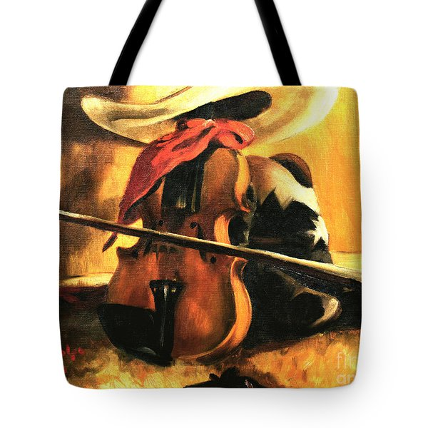 Stetson - Fiddle - Boots  Tote Bag