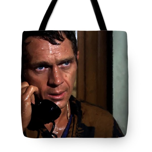 Steve Mcqueen As Bullitt Tote Bag