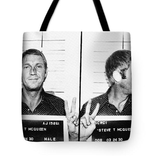 Steve Mcqueen Mugshot Tote Bag