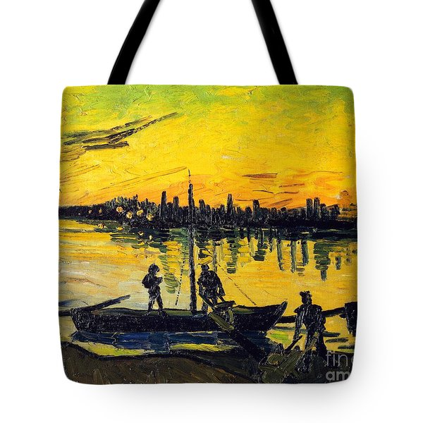 Stevedores In Arles Tote Bag by Vincent van Gogh