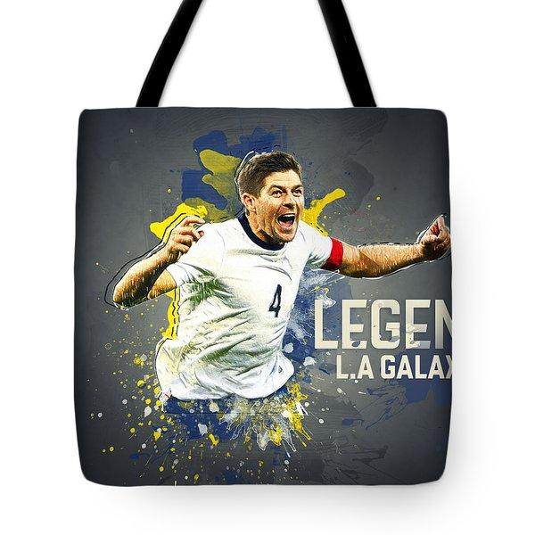 Steven Gerrard Tote Bag by Taylan Apukovska