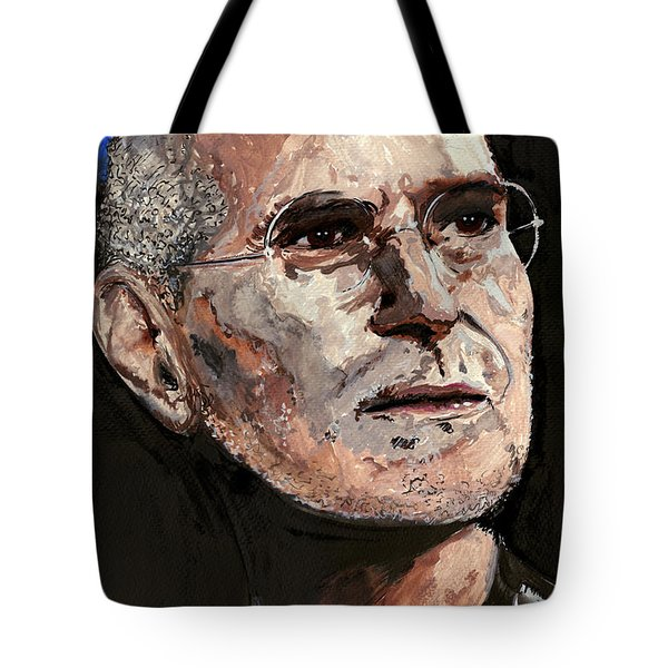 Tote Bag featuring the painting Steven Paul Jobs by Gordon Dean II