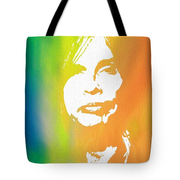 Steven Tyler Canvas Tote Bag by Dan Sproul