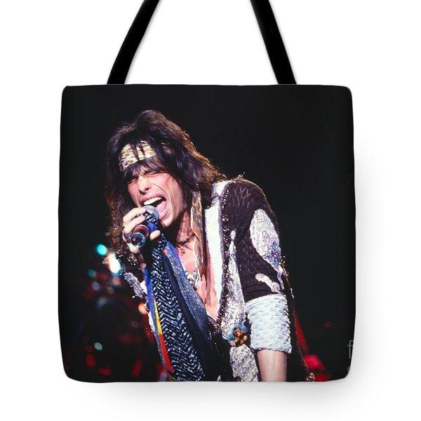 Steven Tyler Tote Bag by David Plastik