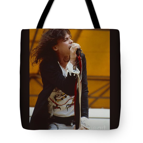 Steven Tyler Of Aerosmith At Monsters Of Rock In Oakland Ca Tote Bag