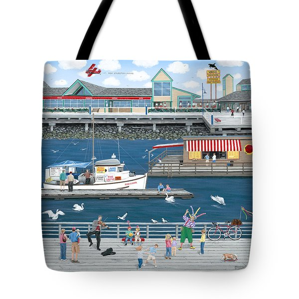 Steveston Landing Tote Bag by Wilfrido Limvalencia