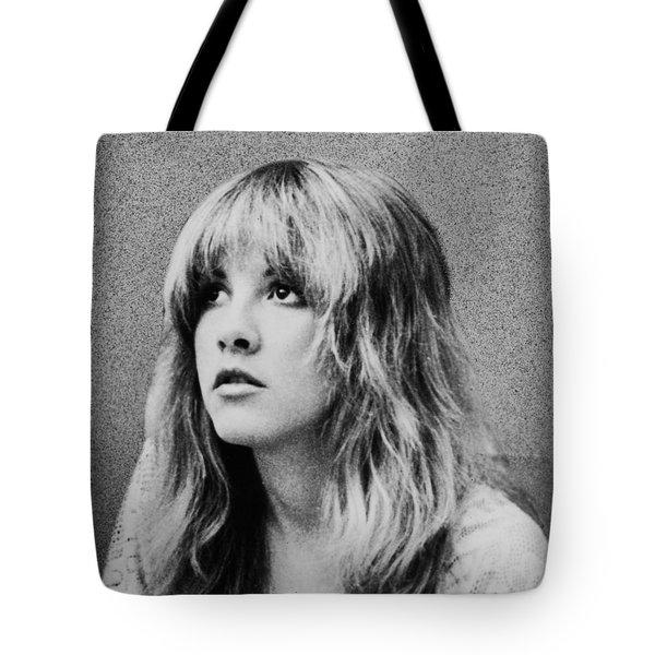Stevie Nicks Bw Tote Bag