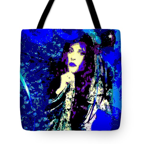 Stevie Nicks In Blue Tote Bag