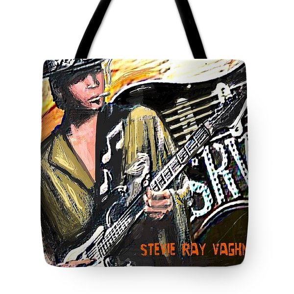 Stevie Ray Vaghn Tote Bag by Larry E Lamb